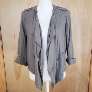 Anthro Daughters of the Liberation Linen Jacket XS